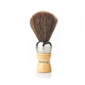 Vielong Professional Horse Hair Barber Brush 19mm Brown