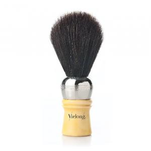 Vielong Professional Horse Hair Barber Brush 21mm Black