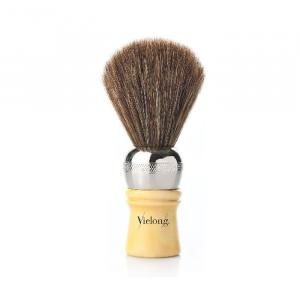 Vielong Professional Horse Hair Barber Brush 21mm Brown