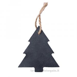 Set 6 pz - Albero di Natale in ardesia per scriverci sopra da appendere - 9x10 cm - Natale