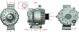ALTERNATORE FORD TRANSIT 00> 2.4 TDCi 04>, NUOVO, VISTEON,