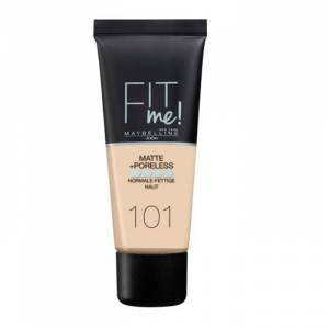 Maybelline Fit Me Matte & Poreless Foundation 101 True Ivory 30ml