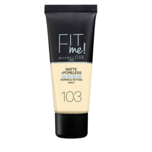 Maybelline Fit Me Matte & Poreless Foundation 103 Pure Ivory 30ml
