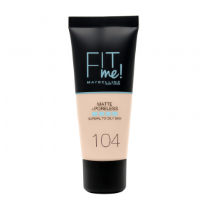 Maybelline Fit Me Matte & Poreless Foundation 104 Soft Ivory 30ml