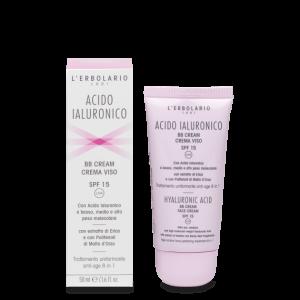 Acido Ialuronico BB Cream Crema Viso SPF15 Trattamento uniformante anti-age 8 in 1 50 ml