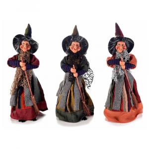 Set 3 streghe portadolci in stoffa Halloween