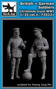 British+German Soldiers Christmas Truce WWI
