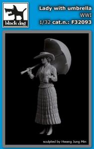 Lady with Umbrella WW I