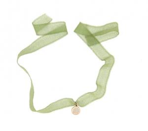Girocollo Strangolino Gipsy Tessuto Verde Quadrifoglio