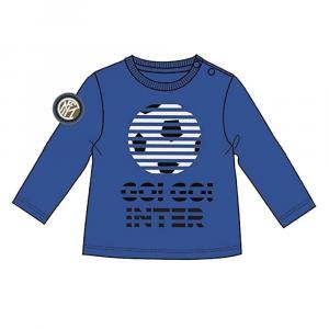 Maglietta INTER taglia 12 18 24 mesi neonato manica lunga ufficiale