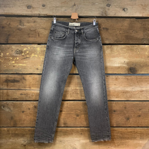Jeans Haikure Tokyo Nero Slavato (Slim Crop)