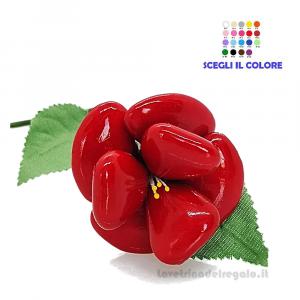 Rosa rossa Fiore di confetti in cellofan William Di Carlo Sulmona - Italy