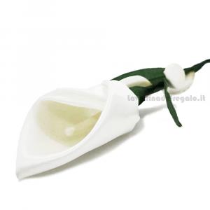 Calla bianca in raso Fiore di confetti William Di Carlo Sulmona - Italy