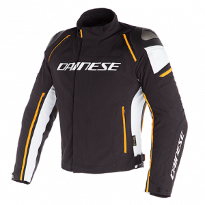 Giacca Dainese Racing 3 D-Dry Black/Vapor-Blue/Red-Orange