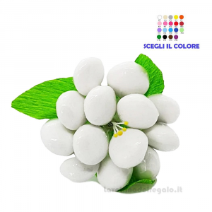 Peonia bianca in cellofan Fiore di Confetti William Di Carlo Sulmona - Italy