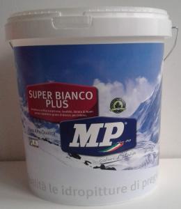 Mp idropittura super bianco plus traspirante lavabile per interni 14lt