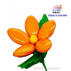 Margherita arancione Fiore di Confetti William Di Carlo Sulmona - Italy