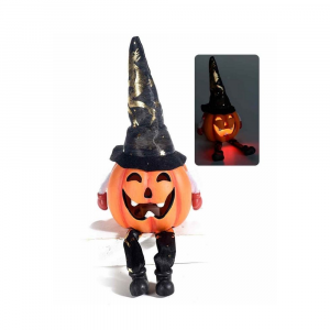 Set 4 zucche luminose Halloween idea regalo segnaposto