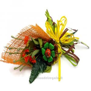 Halloween decorazioni Fiori di confetti Sulmona 28x12x9 cm Handmade - Italy