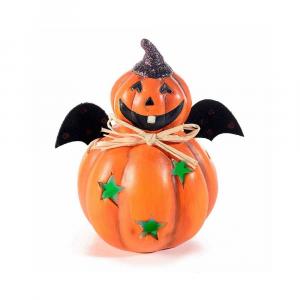 Set 4 zucche Halloween con luci segnaposto