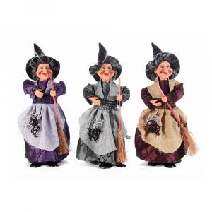 Set 6 streghe portadolci Halloween resina e stoffa