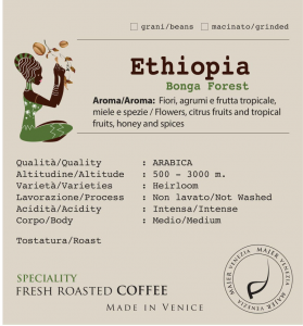 Coffee beans Majer Etiopia Bonga Forest - 250gr