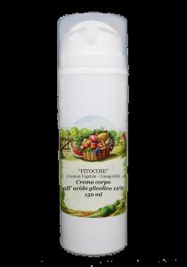 Crema glicolico per il corpo | Crema ecobio azione esfoliante