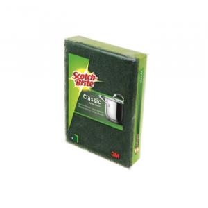 Scotch-Brite Classic Green Fiber Scourer With Sponge 1 Unit