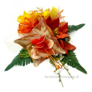 Decorazione floreale arancione Fiori di confetti Sulmona - Handmade - Italy