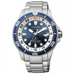 Citizen Diver's Eco Drive GMT Super Titanio BJ7111-86L