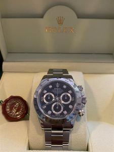 Orologio secondo polso Rolex Daytona 116520 con diamanti