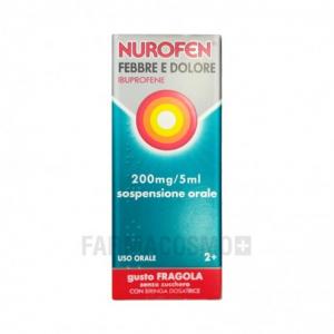 Nurofen Febbre e Dolore Sciroppo Bambini 200 mg/5ml Gusto Fragola