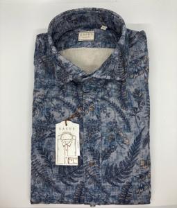 Camicia Xacus, velluto stampato