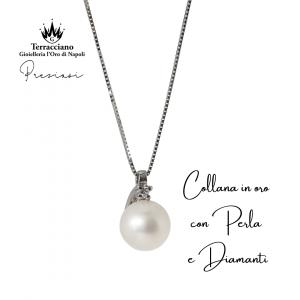 Collana in oro bianco  con Perla