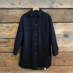 Giaccone T-Coat In Lana Con Frange Nero