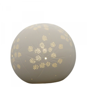 Lampada sfera porcellana bianca cm20