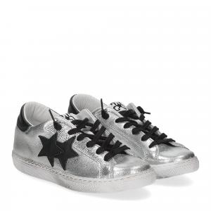 2Star 2818 sneaker argento nero