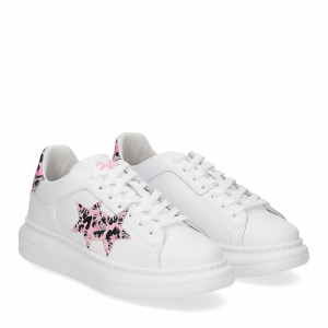 2Star Elettra 013 sneaker bianco maculato rosa