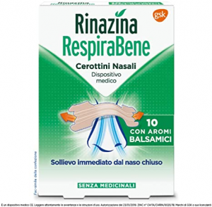 Rinazina Respira Bene-10 Cerottini Nasali Aromi Balsamici