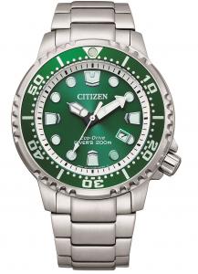 Citizen Diver's 200 mt. Quadrante verde, bracciale acciaio
