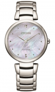 Citizen Lady L collection, quadrante madreperla azzurra/bianca