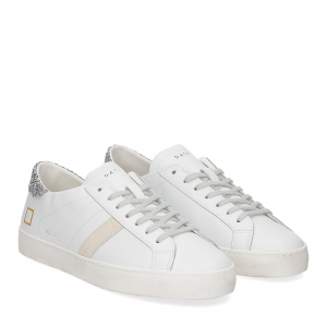 D.A.T.E. Hill Low calf white silver