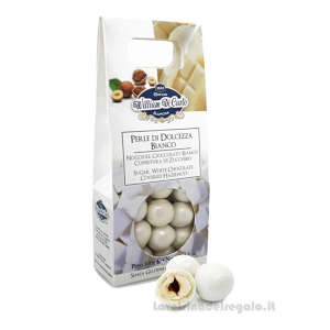 Confetti Perle di dolcezza nocciola e cioccolato bianco 100gr William Di Carlo Sulmona - Italy