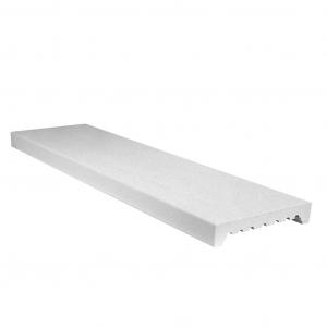 Imer coprimuro evolutione in cemento levigato bianco 22cm(larghezza interna)x100cm