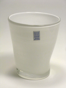 Bicchiere colorato con BIANCO ceramicato Samoa