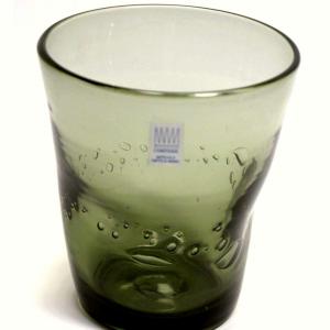 Bicchieri colorati con bolle VERDE OLIVA  Samoa