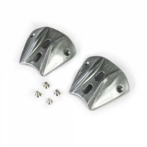 Kit silver heel slider + screws