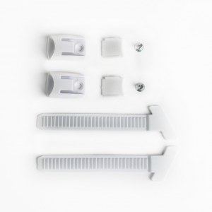 Kit external toothed band white + button + screws