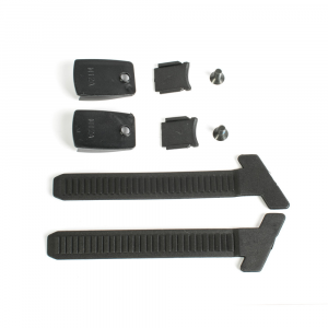 Kit external toothed band black + button + screws