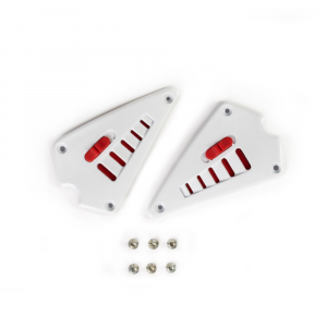 Kit external heel cover white + air intakes + screws ​​​​​​​